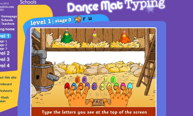 Pics photos bbc typing dance mat typing